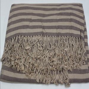 Nine Space Striped Throw Beige Purple new